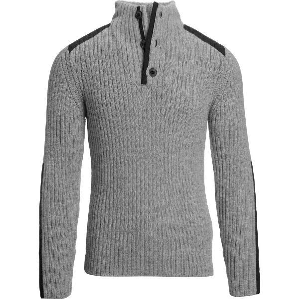 (取寄)NAU メンズ ナスカ アルパカ セーター NAU Men's Nazca Alpaca Sweater Shady Heather 【コンビニ受取対応商品】