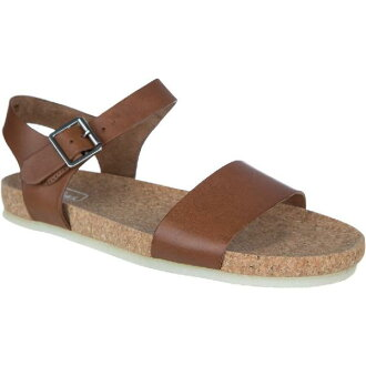 (索取)kurakusuredisudasutisorusandaru Clarks Women Dusty Soul Sandal Dark Tan Leather