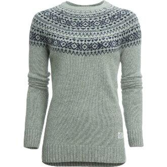 (索取)penfirudoredisufurimanfeaairukuruseta Penfield Women Freeman Fairisle Crew Sweater Grey
