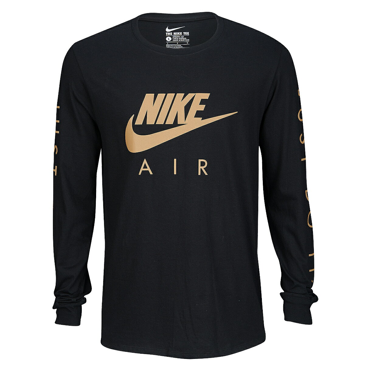 NIKE ナイキ メンズ 長袖Tシャツ ブラック ゴールド グラフィック ロングスリーブ Tシャツ Nike Graphic Long Sleeve T-Shirt Black Light Gold