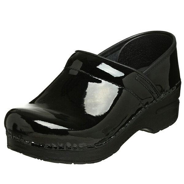 (取寄)ダンスコ プロフェッショナル レディース パテント レザー クロッグ ブラック dansko Professional Patent Leather Clog Black【サボ サンダル コンフォートシューズ 大きいサイズ 靴】 アメリカ発!!dansko 健康を重視したシューズ【革 レザー】