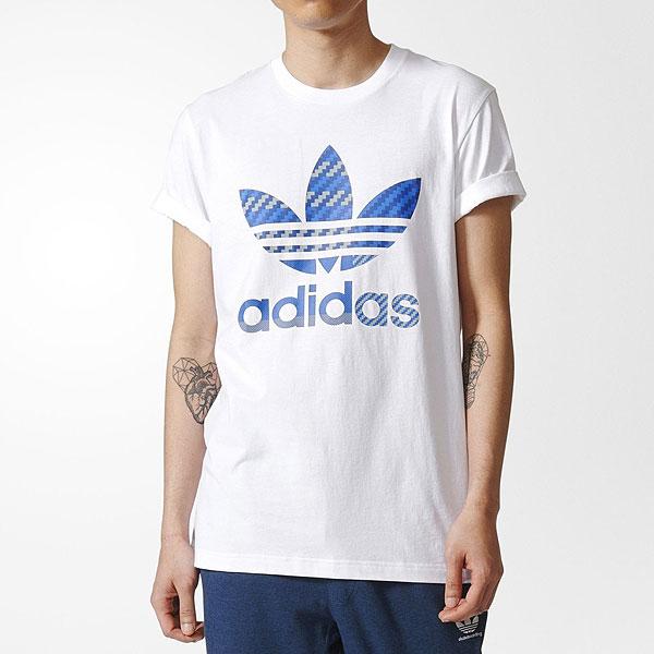 アディダス オリジナルス メンズ Tシャツ エッセンシャルズトレフォイル 半袖Tシャツ 白 ホワイト adidas originals Men's Essentials Trefoil T-Shirt