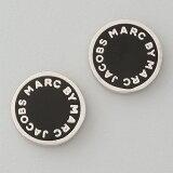 �ޡ����Х��ޡ������������֥� �ԥ��� ���ʥ��? Marc by Marc Jacobs Logo Disc Stud Earrings Black�ڥ�ǥ����� �ե��å���� �֥��ɡ� �������б�