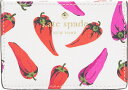 (╝ш┤є)Kate Spade New York Hot Pepper Card Holder е▒еде╚е╣е┌б╝е╔ е█е├е╚ е┌е├е╤б╝ елб╝е╔ е█еые└б╝ Cream Multi
