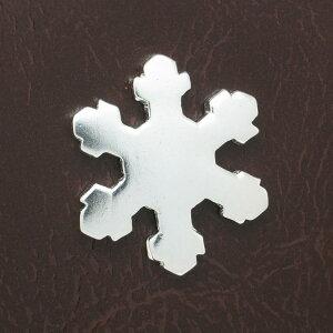 Silver925シルバー小物雑貨ピンブローチ/ピンバッチ/ピンズ/タックピン/雪の結晶スノーフレーク/ピンバッジ/スタッズ/カスタム/パーツ/送料無料