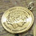 コイン ネックレス ペンダントトップ コイン バースイヤーコイン ギリシャ100ドラクマ ワールドコインペンダント トップ コイントップ ..