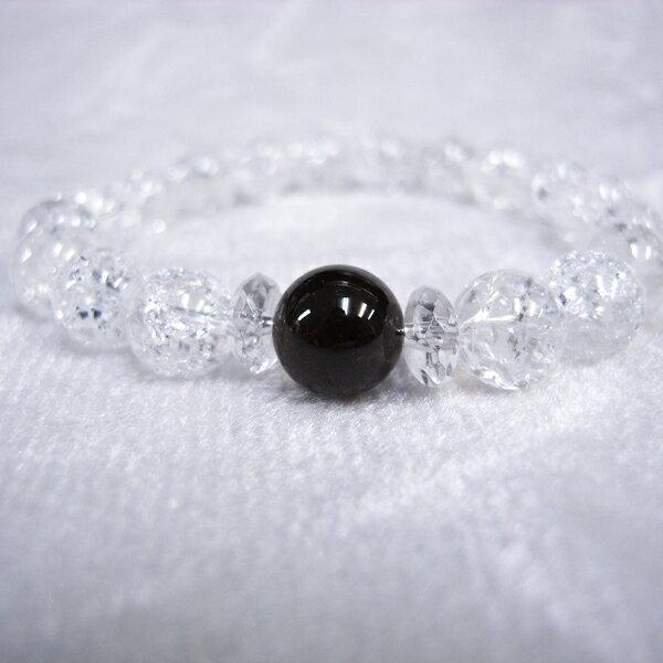 天然石 ブレスレット ガーネット クラック水晶...の紹介画像2
