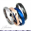 指輪 レディース メンズ タングステン リング 刻印対応 送料無料 ダイヤカット 3mm 1個 シルバー ブラック ピンクゴールド ブルー ペアリングに 7号 ...