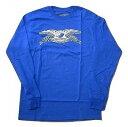 ANTIHERO アンタイヒーロー BASIC EAGLE L/S イーグル ロングスリーブ ロンT 青 ロイヤル ブルー