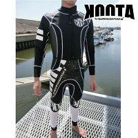 クエーキーセンス KOOTA クータ フレックス&ジョン ウエットスーツ ブラック クエーキーセンス ジェットスキー 水上バイク QUAKYSENSEの画像