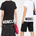 ショッピングMONCLER モンクレール MONCLER バック ロゴTシャツ 8C77810V8161 ホワイト ブラック