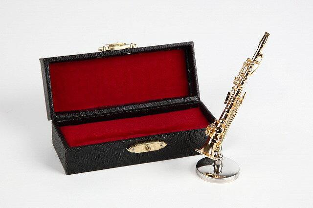 ミニチュア楽器ソプラノサックス1/12サイズ