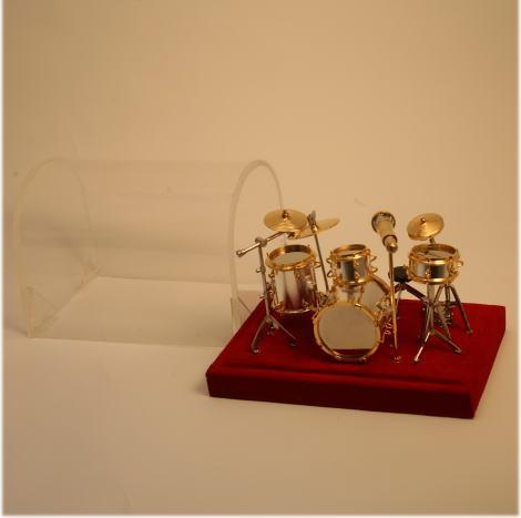 ■ミニチュア楽器 ドラムセット 1/14サイズ...:auc-just-on:10000073