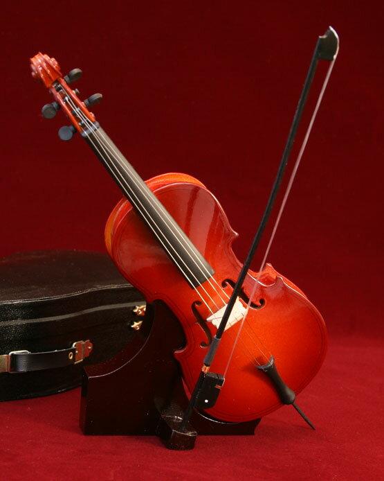 ミニチュア楽器チェロ23cm