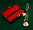 ミニチュア楽器 トロンボーン 1/6サイズ