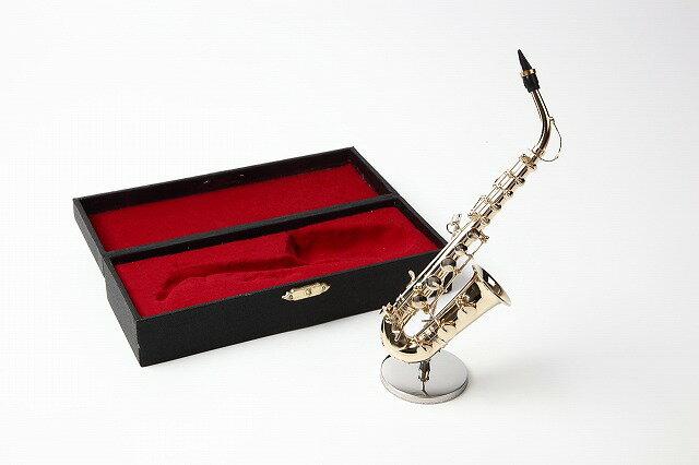 ミニチュア楽器アルトサックス1/6サイズ