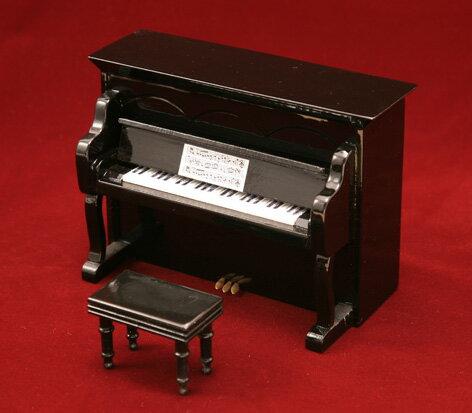 ミニチュア楽器アップライトピアノ黒