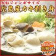 生牡蠣【送料無料】広島産 ジャンボサイズ 生かき剥き身 2kg/約50〜70粒入り★加熱用 牡蠣鍋 2016 送料込 むき身