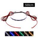 側面発光12V(1本) 防水LEDテープライト 1チップ 500cm (120LED) 両端子 黒ベース