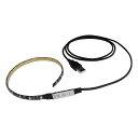 Kaito6971(1本) 防水 USB 流れるLEDテープライト RGB/カラフル(3528) [ミニ調光付き] 50cm DC5V 黒ベース