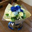 ブルーローズ 青いバラ 青薔薇 花束 花瓶のいらない花束(青い薔薇のデコールブーケ)送料無料 誕生日 花 結婚記念日 花送別会 花父の日 花 母の日 フラワーギフト クリスマス フラワーギフト
