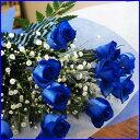ブルーローズ サントリー レインボーローズ 送料無料 花 青い薔薇 花束 青いバラ 【 青薔薇 花束(青い薔薇10本とカスミ草の花束) 】 送料無料 誕生日 花 結婚記念日 花送別会 花父の日 花 母の日 フラワーギフト クリスマス