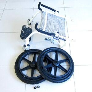 もっとアグレッシブに!オフロードタイプの車椅子!【フリーキー】【車椅子】【自走式】【アルミ】【折りたたみ】【ノーパンクオフロードタイヤ】【スポーツ】街乗りにも!水の中へも入れます