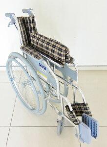 正統派なベーシックアルミ車椅子!イエローチェック【送料無料】【ファンライト】【自走式】【折りたたみ式】【アルミ】【車椅子】【ノーパンクタイヤ】【軽量】【車イス】【駐車&介助ブレーキ(ロック機能)付き】【低価格】