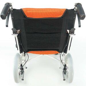 2015.10.26新発売車椅子車イス車いす『LEAF(リーフ)』チークオレンジ上品で軽くてコンパクト!介助用コンパクト軽量ノーパンクタイヤバンドブレーキ折りたたみ背折れ介護用品メーカー直販特価73%OFF選べる全5色