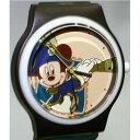 【中古】本物抜群に綺麗東京ディズニーシーで購入ミッキーマウス船長の絵柄の男女兼用可愛い時計電池交換済み