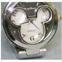 【中古】本物新品未使用ミッキーの形文字盤銀色紳士用時計