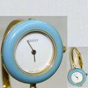 【中古】本物完動美品グッチ女性用取り外し可能ベゼル12個付き時計11/12.21ヶ月保証付き
