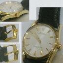 完動ROLEX紳士用ビンテージのK14YG金無垢時計1011重さ429gベルト尾錠も純正付き