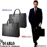 ビジネスバッグ ブリーフケース メンズ 3rd 牛革 DIABLO ディアブロ (2色)【ビジネスバック Business Bag ビジネス鞄 かばん】【ショルダー ブリ−フケ−ス