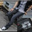 [544-2]●フェイクレザー切替ポケット スキニー● スキニー ジーンズ メンズ スキニー デニム スキニーパンツ ヴィンテージ ビンテージ P23Jan16