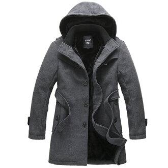 [cn-id-179]-粗呢大衣男式休閒外套男裝男子休閒夾克夾克外套上衣 02P05Nov16
