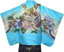 七五三 着物 男の子 袴 セット 5歳羽織袴 フルセット 兜柄 水色 着付けマニュアルDVD付き 販売 購入