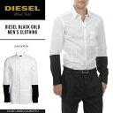 ■DIESEL BLACK GOLD ディーゼル ブラックゴールド メンズ■長袖 バイカラースリーブ 袖切替