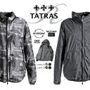 ■TATRAS タトラス Rライン メンズ■収納可フード付き カモフラージュ柄迷彩柄 杢無地 リバーシブル ブルゾン ジャケット【CARPINO】【サイズ1(XS)〜7(XXL~)】【2カラー】tat-m-o-75-409