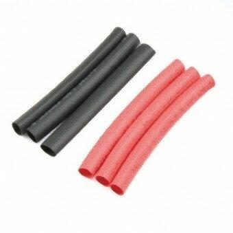【ネコポス対応品】イーグル (S10)2カラー収縮チューブ5mm(赤、黒)各3pcs 品番3126