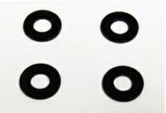 【ネコポス対応品】TOP LINE ホイールスペーサー ブラック 1.0mm 4枚入 #TWS-10