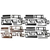 ハイエース 200系 標準ボディ用 インテリアパネル/3Dパネル 12Pセット 3D立体パネル