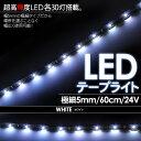 LEDテープライト/モールライト 5mm 60cm 30LED 24V 白 ホワイト 1本