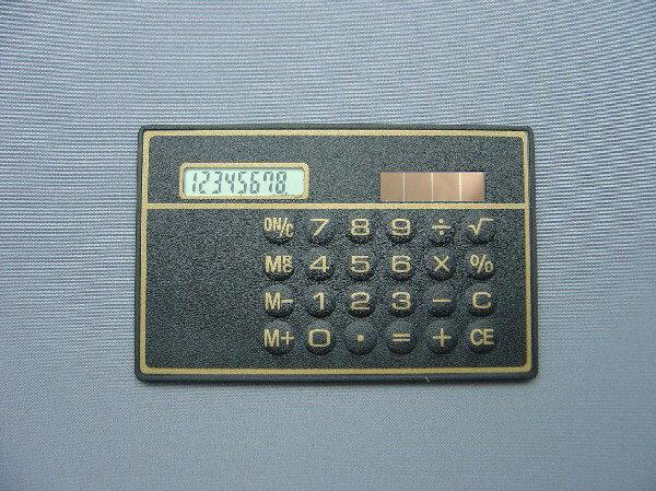 ソーラーカード電卓(602)【 カード電卓 】販...の商品画像