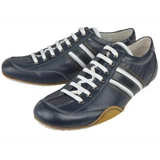 3 GS (三代) 103-0412AD-141 海軍皮革鞋休閒男裝休閒鞋蕾絲鞋帶皮革巴士籠成人休閒
