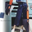 【新作】バケツバッグ風♪バイカラートートバッグ大容量! フェイクレザー 合皮 ミニポーチ付き【送料無料】