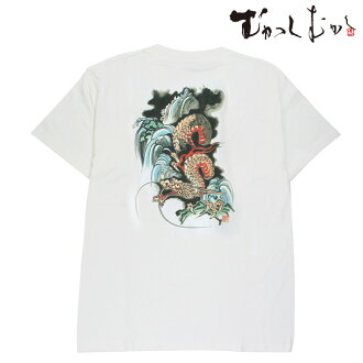 ☆The brand ☆ old days old days ☆ sum pattern T-shirt ☆ 水龍睨図 ☆ white that is famous for pine っちゃん wearing