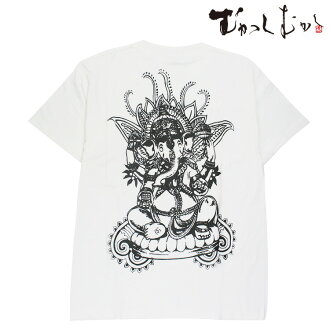 Pine was properly worn by famous brand ☆ once upon a time Japanese pattern T shirts ☆☆ peeled and bodhisattva 3 ☆ white