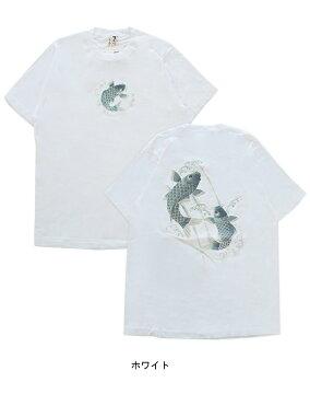 むかしむかし踊鯉和柄Tシャツ