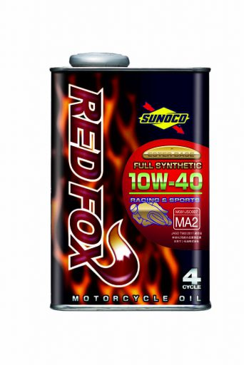 SUNOCO REDFOX RACING & SPORT 4サイクル オイル 【10W-40 1L×10缶】 スノコ 2輪 バイク レッドフォックス レーシング アンド スポーツ 100%化学合成 レーシングスペック エンジンオイル 10W40